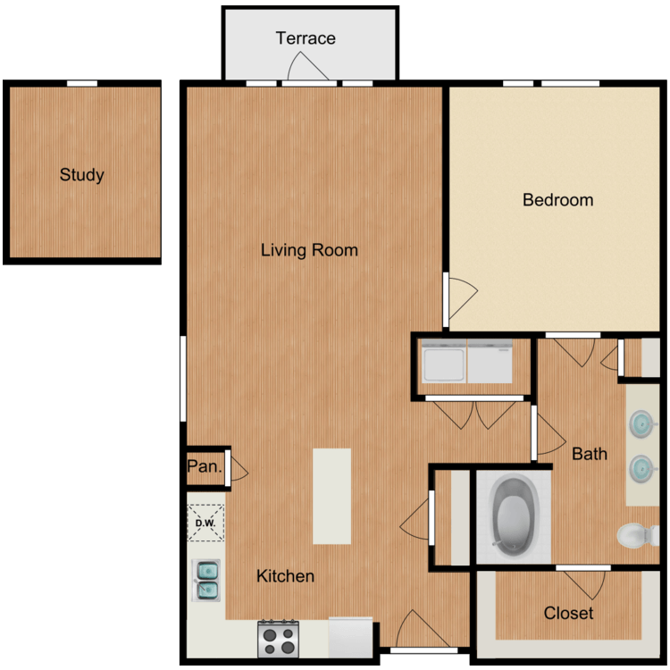 Floor plan image of The Hudson