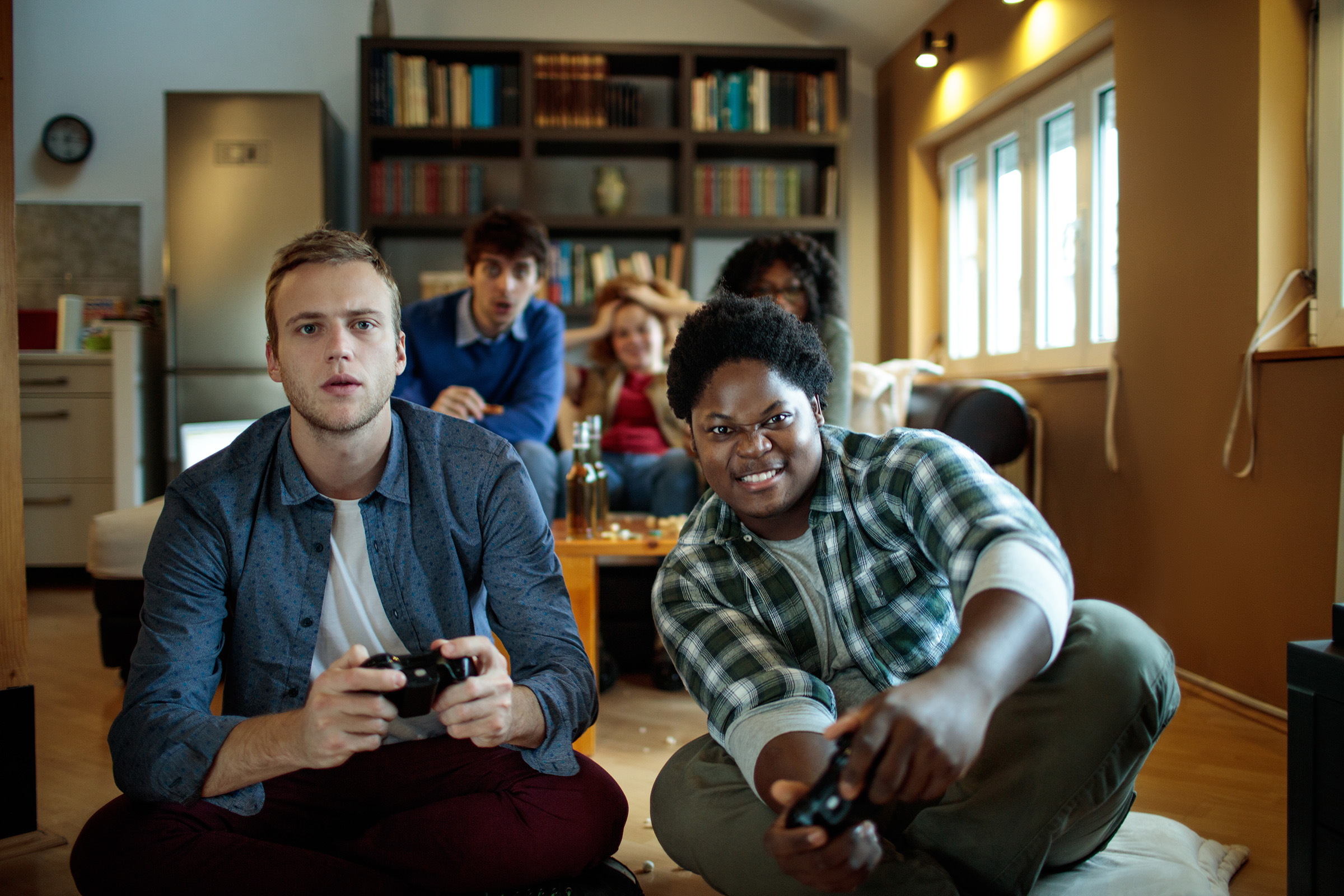 College Kids Playing Video Games