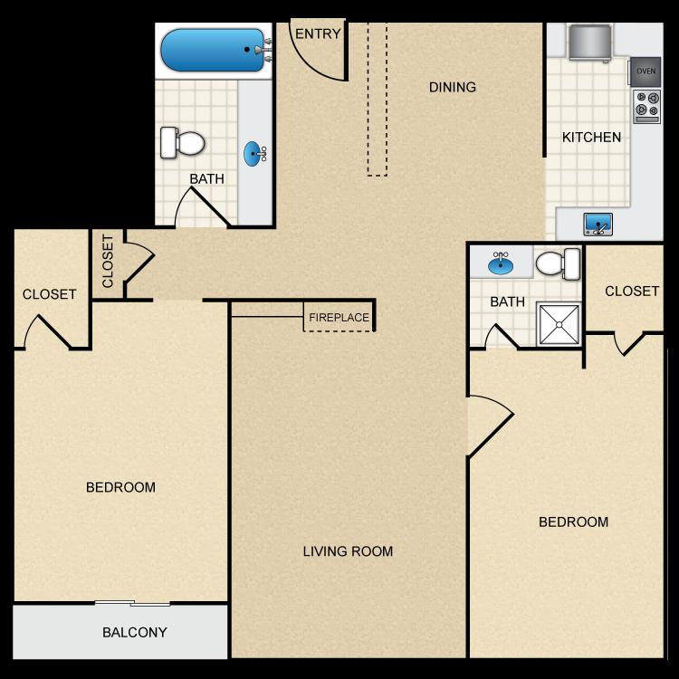 Floor plan image of Floor Plan B1