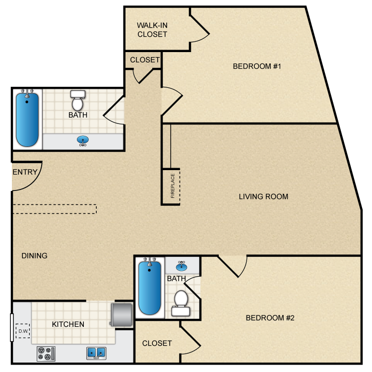 Floor plan image of Floor Plan B2