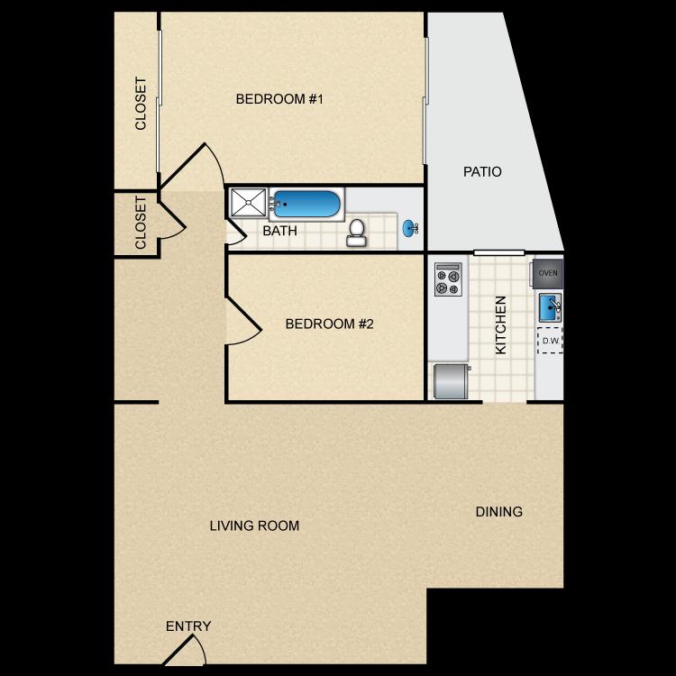 Floor plan image of Floor Plan D