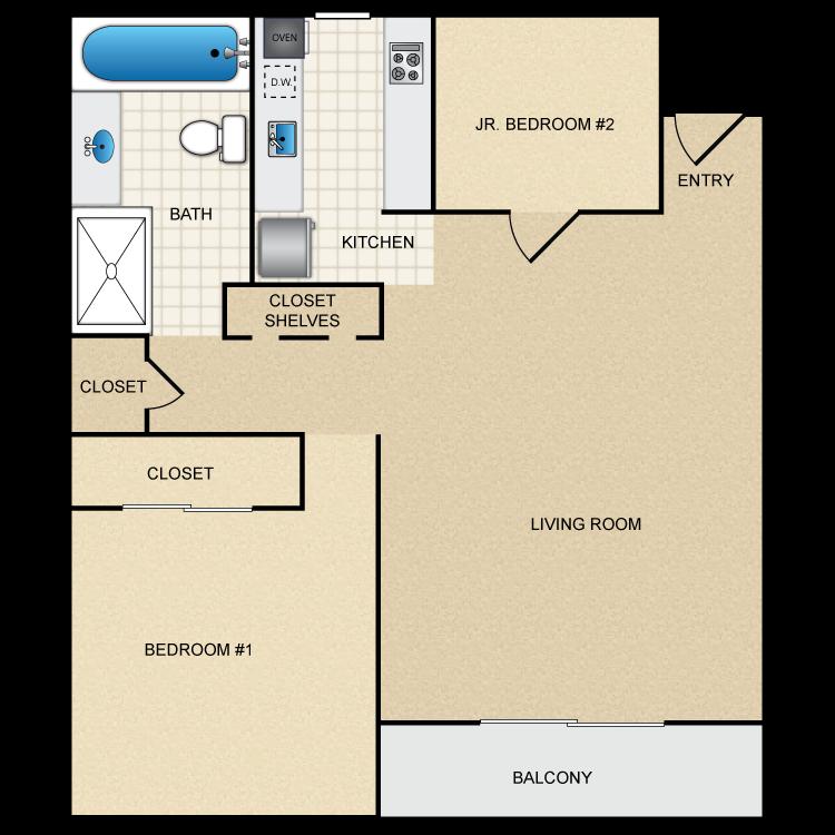 Floor plan image of Floor Plan E