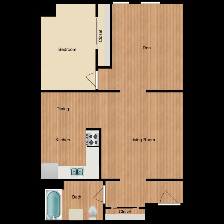 Floor plan image of 1 Bedroom Unique