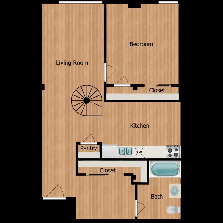 Floor plan image of A5 Loft