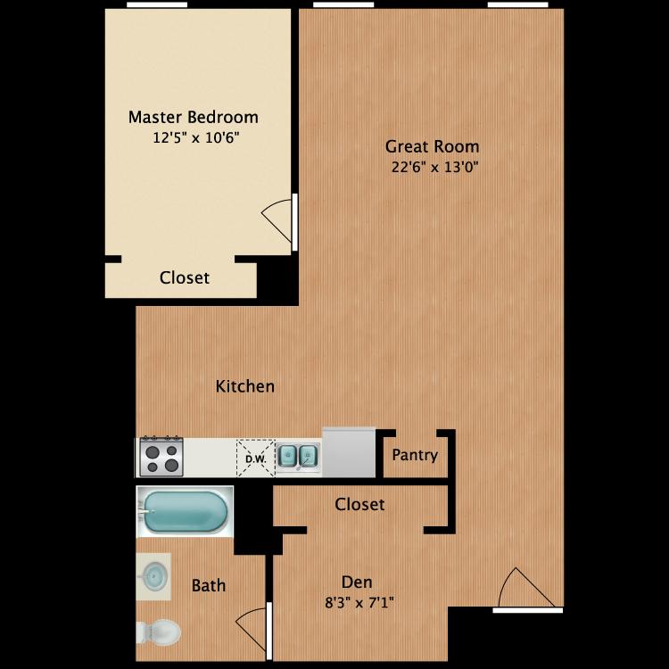 Floor plan image of 1 Bedroom A2