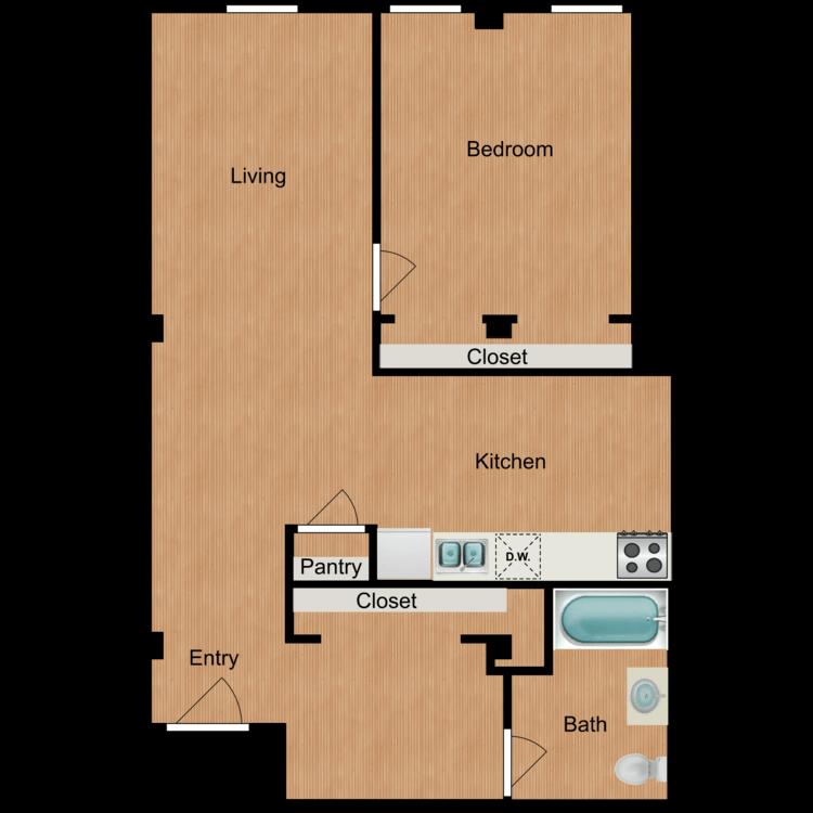 Floor plan image of 1 Bedroom A5
