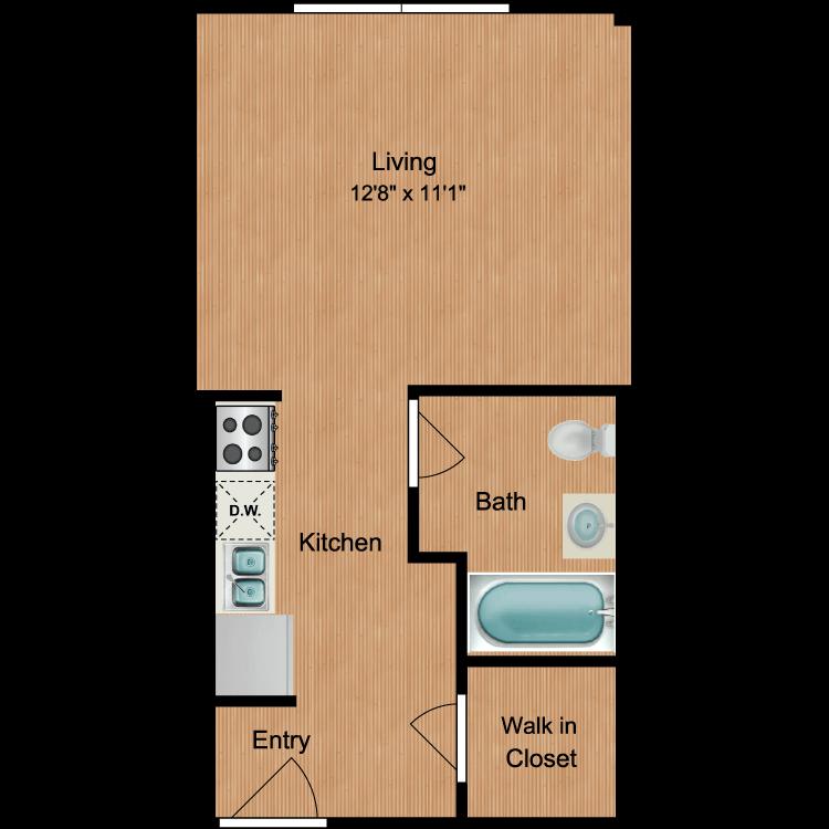 Floor plan image of Studio S10