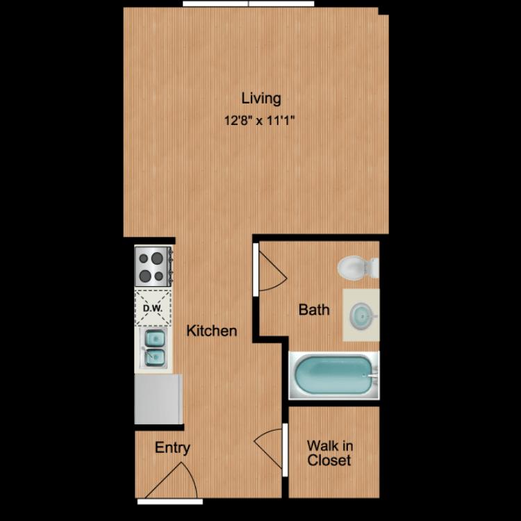 Floor plan image of Studio S12