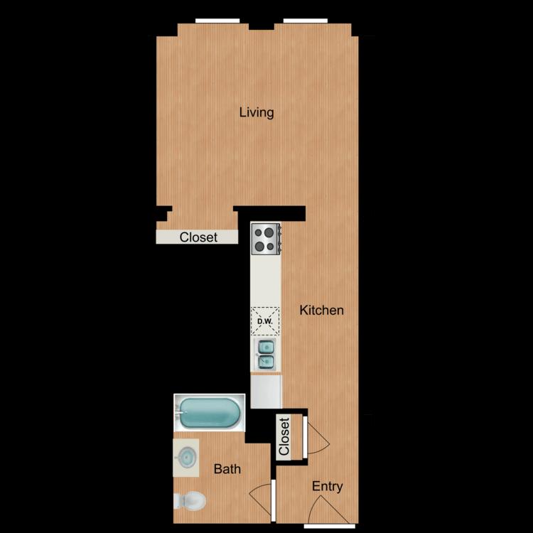 Floor plan image of Studio S6