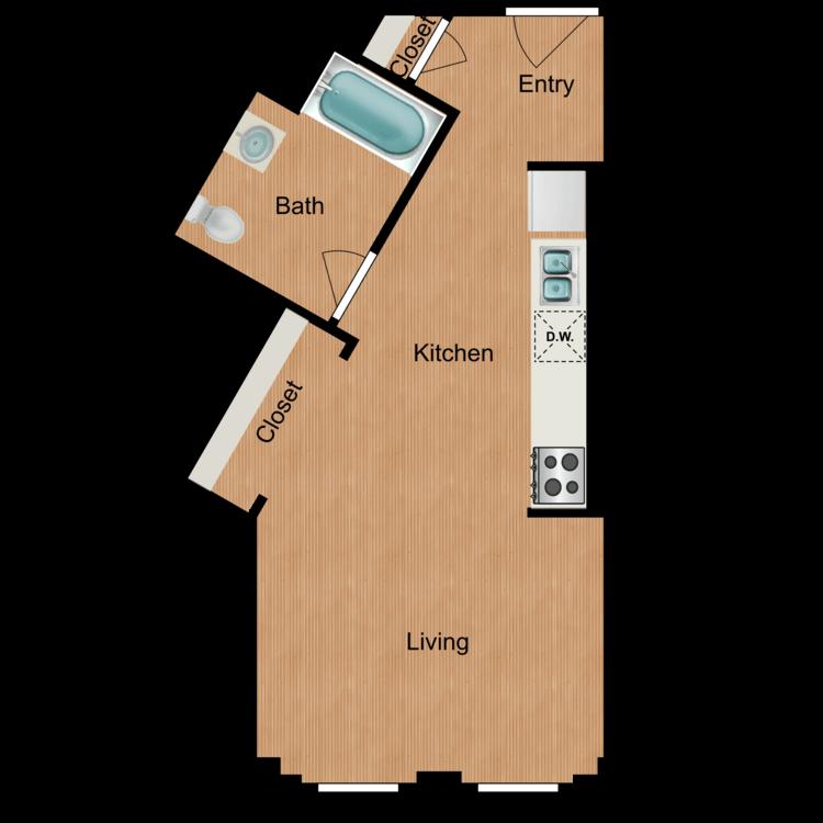 Floor plan image of Studio S7