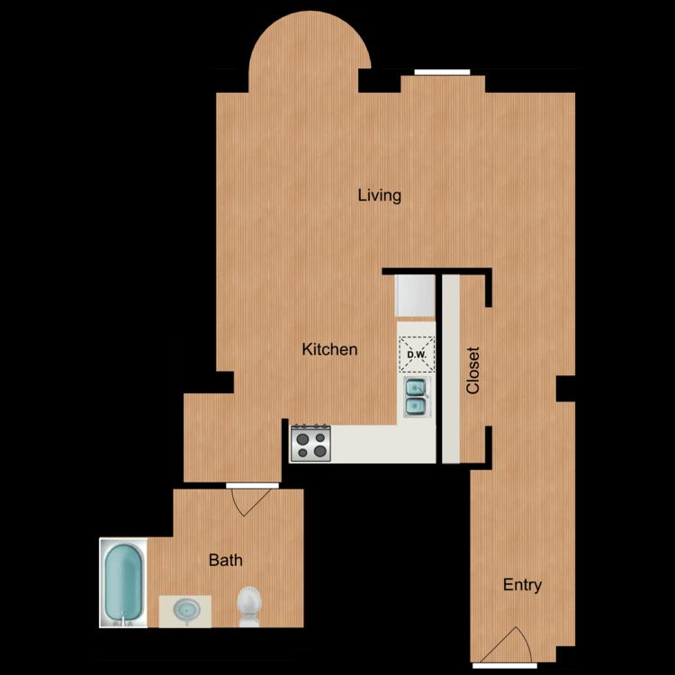 Floor plan image of Studio S8