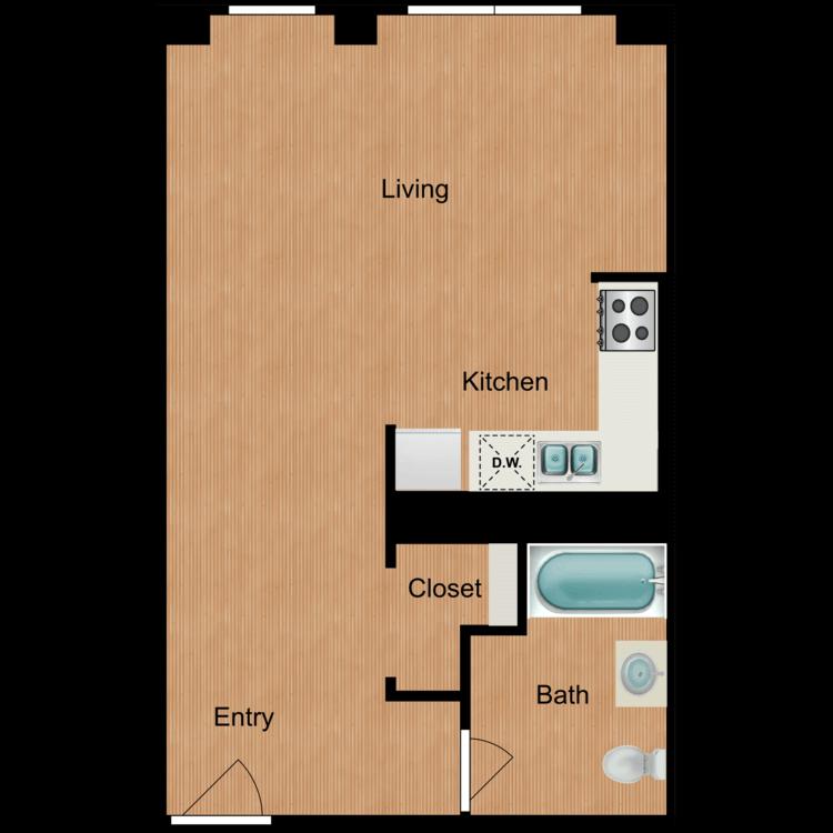 Floor plan image of Studio S9