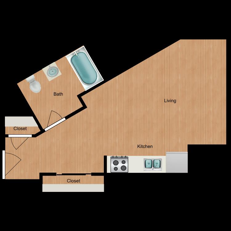 Floor plan image of Studio S4