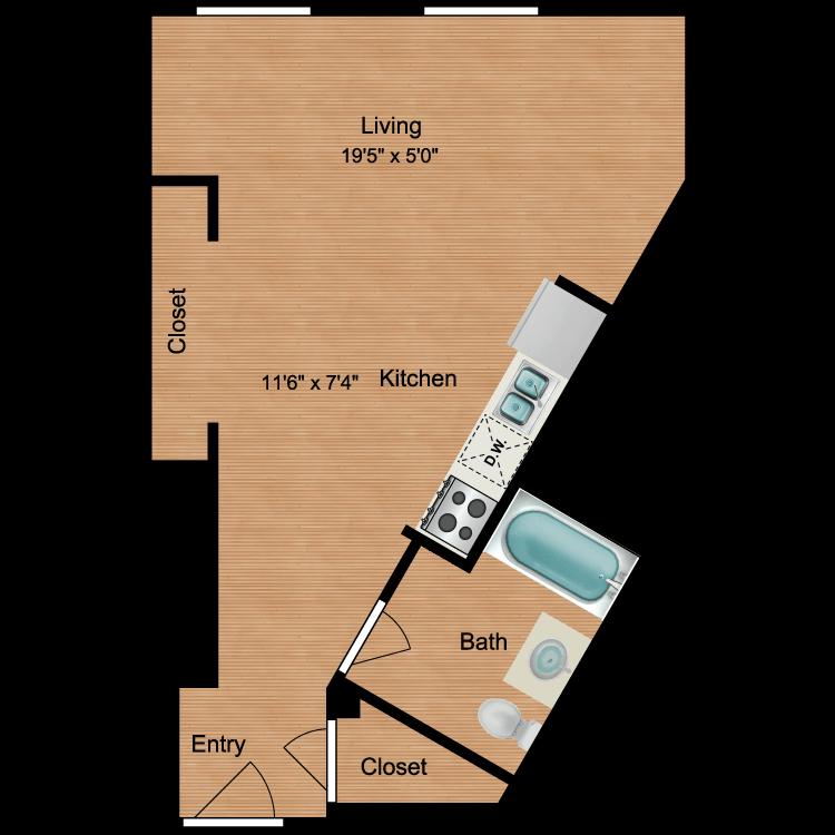 Floor plan image of Studio S2