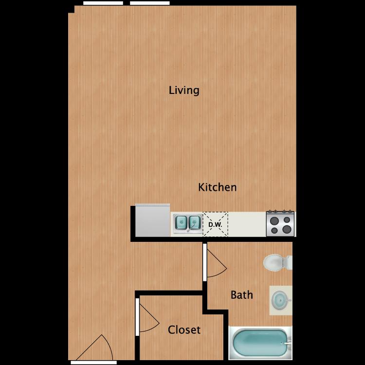 Floor plan image of Studio S13