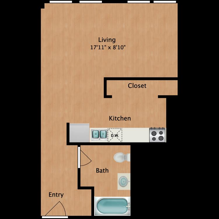 Floor plan image of Studio S1