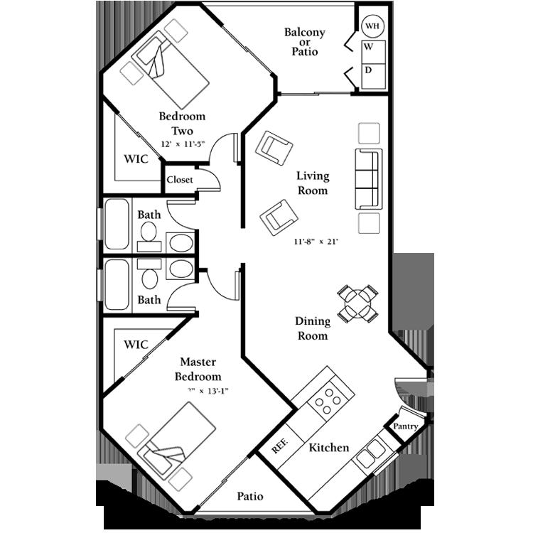 Floor plan image of The Jasmine - Second Floor