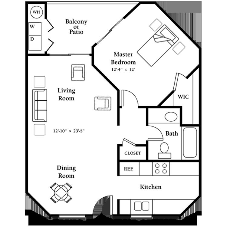 Floor plan image of The Lantana - Second Floor