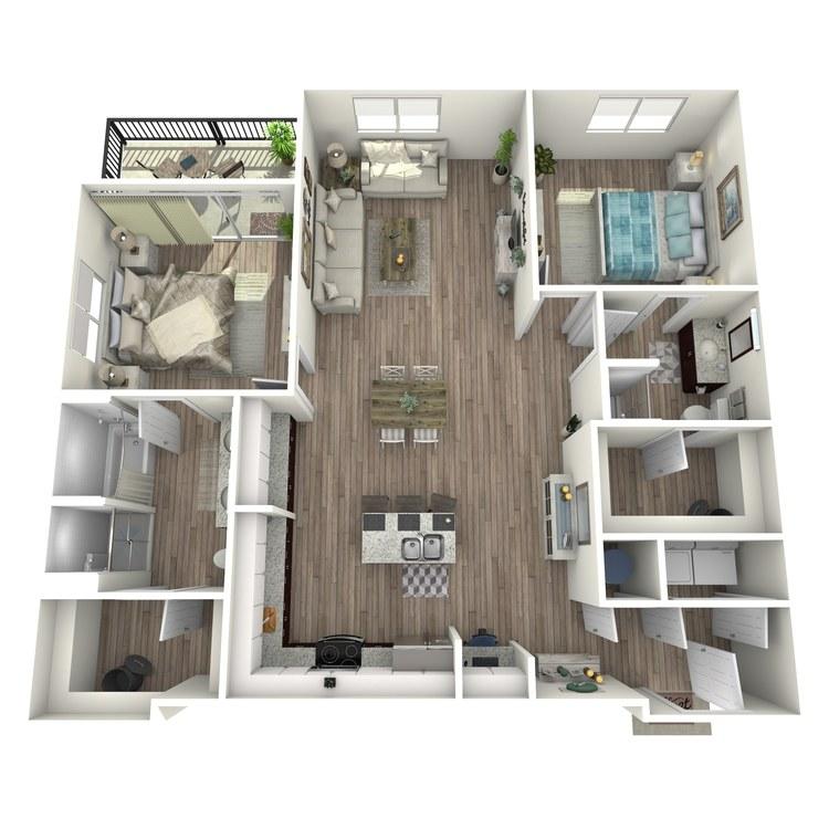 Floor plan image of B2.1
