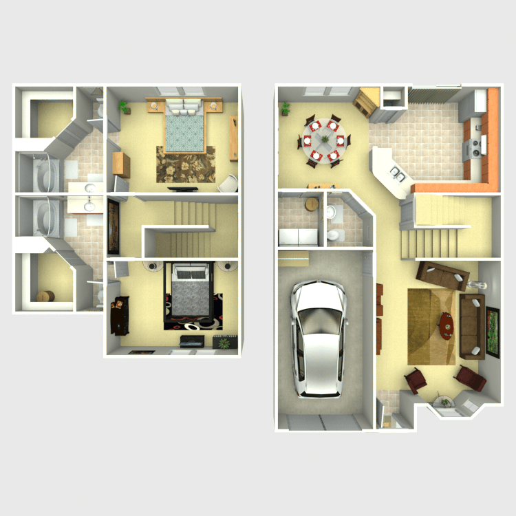 Floor plan image of Maple Townhome