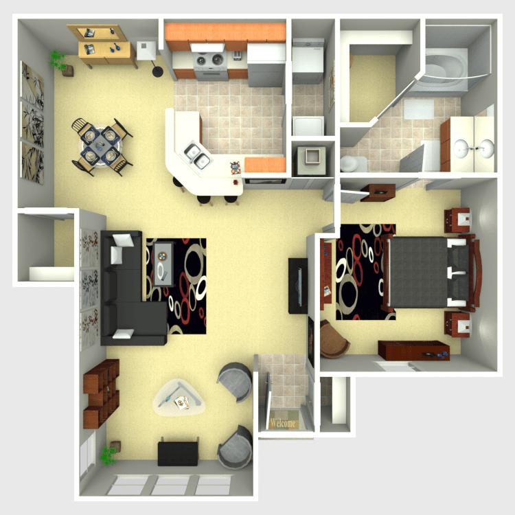 Floor plan image of Oak Solarium