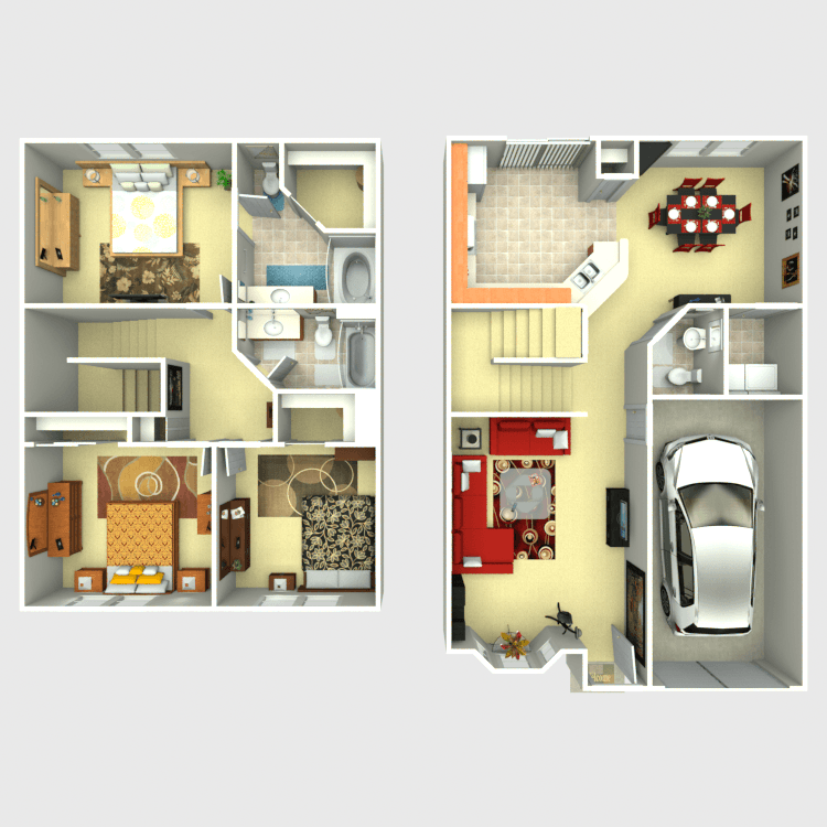 Floor plan image of Willow Townhome