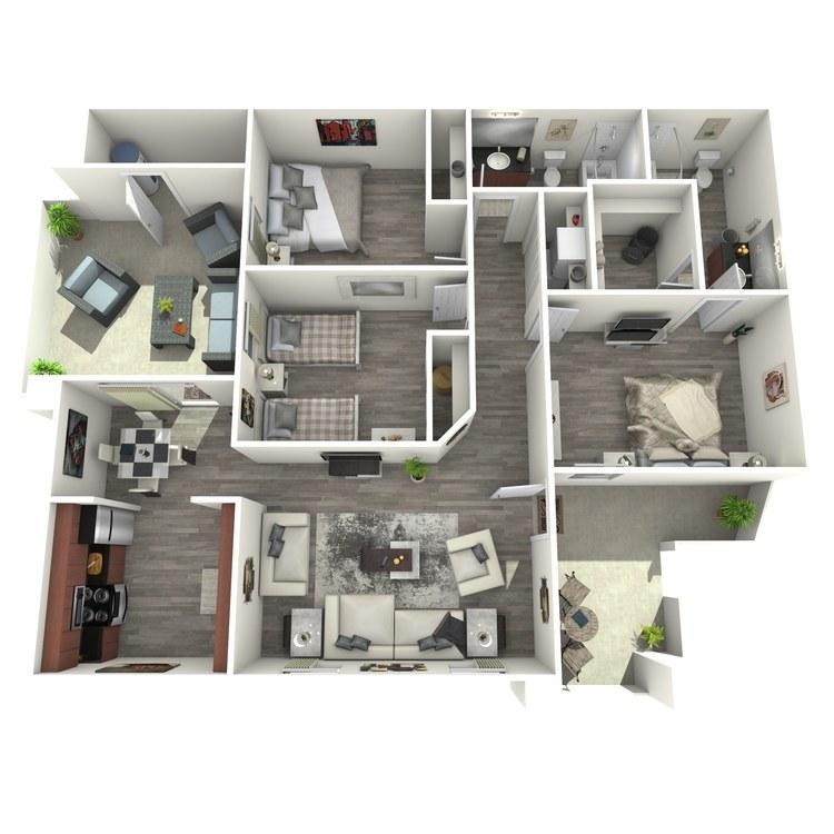 Floor plan image of Monroe