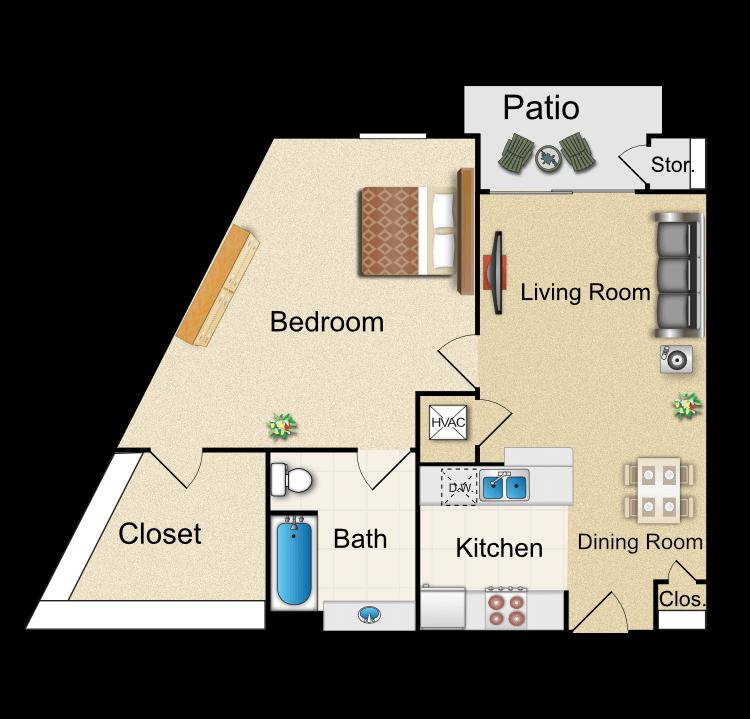 Floor plan image of K