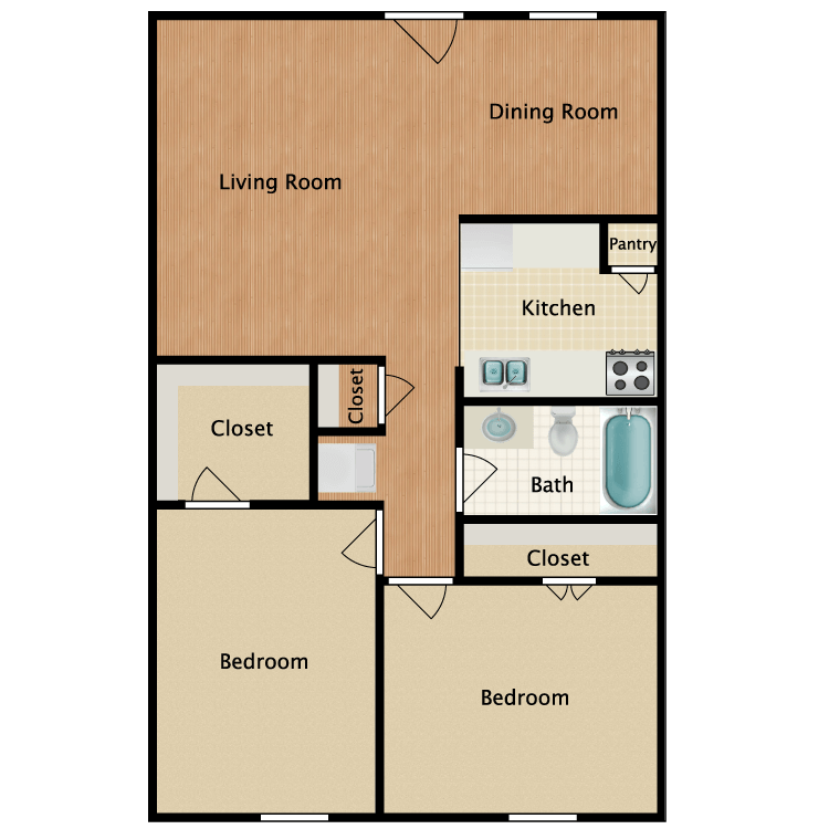 Floor plan image of Flat 2