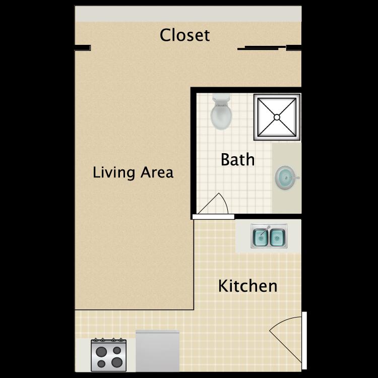 Floor plan image of Floorplan D