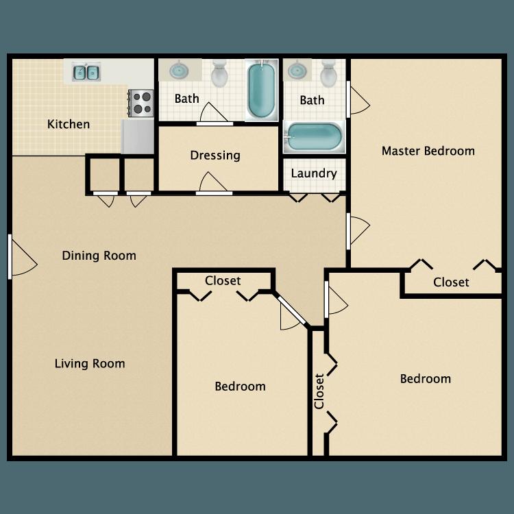 Floor plan image of The Oak/The Flint
