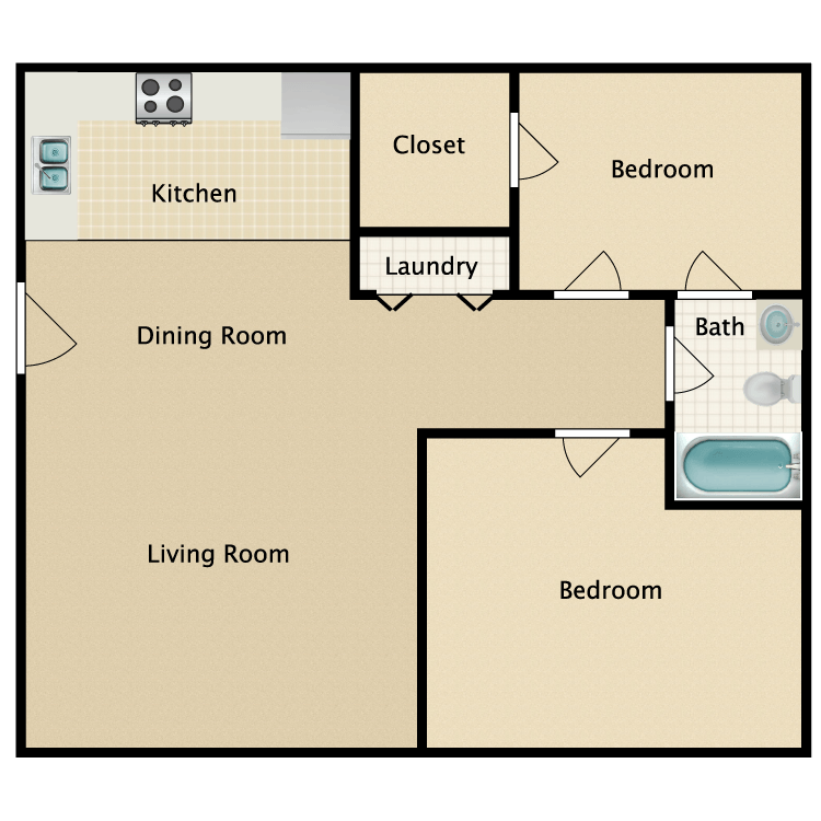 Floor plan image of The Dogwood/The Knox