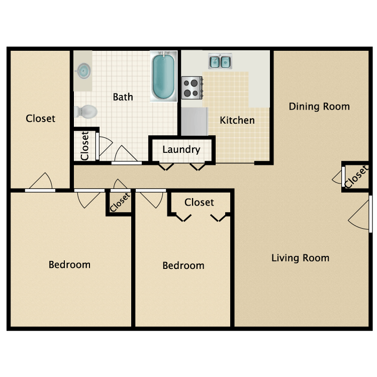 Floor plan image of The Pine/The Reed