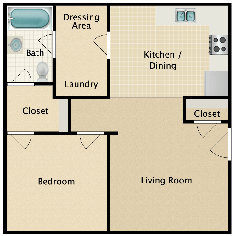 Floor plan image of The Maple/The Harpeth