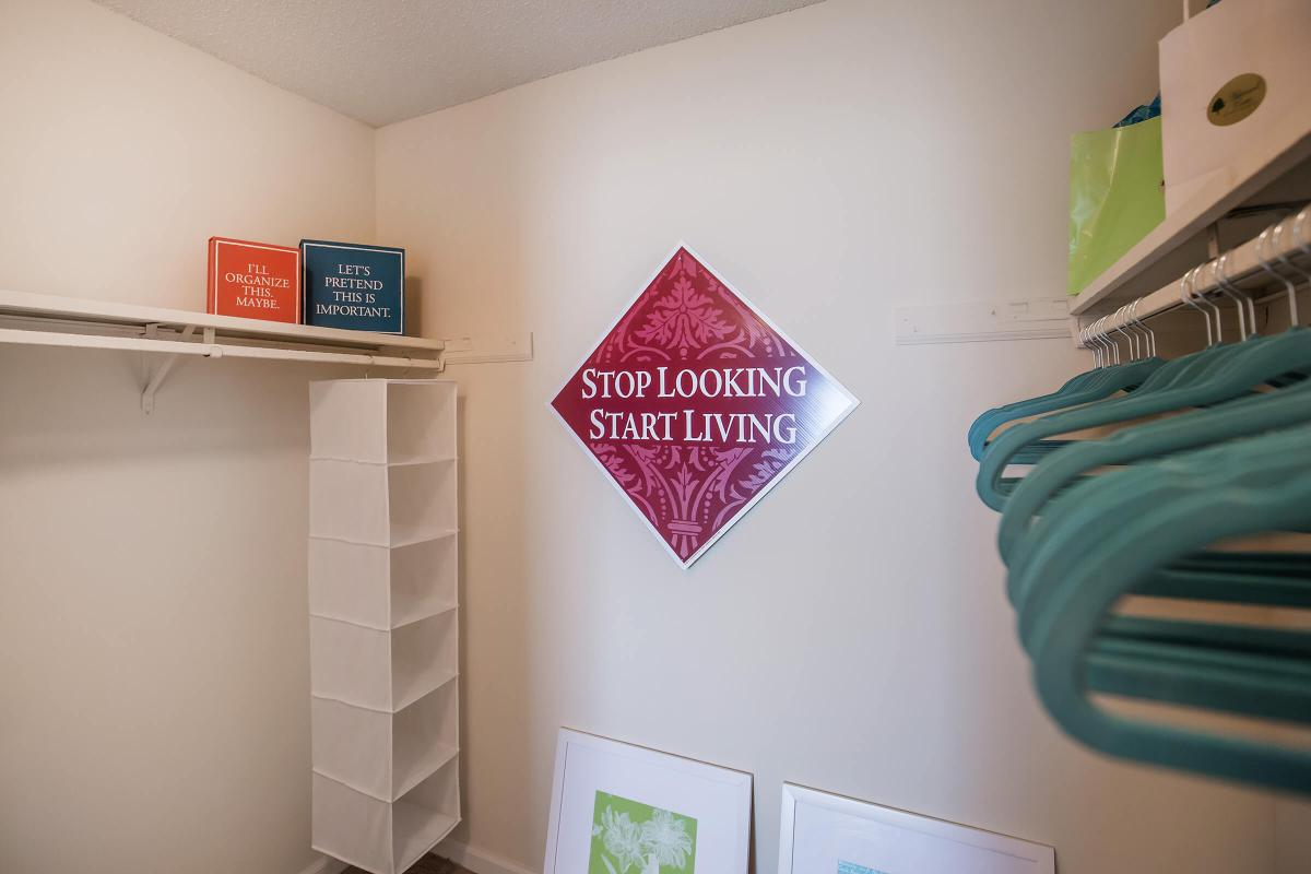 We have walk-in closets in Ashwood Cove