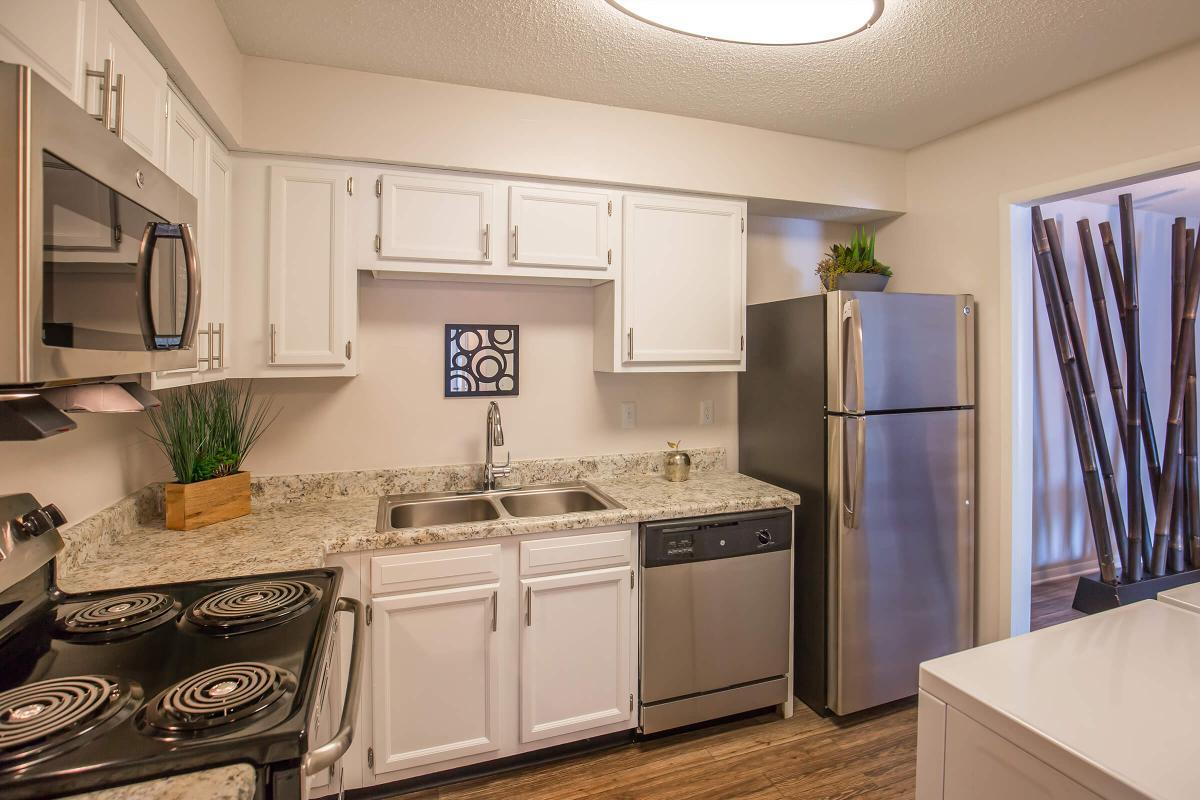 Another picture of the fully-equipped kitchen in The Juniper at Ashwood Cove
