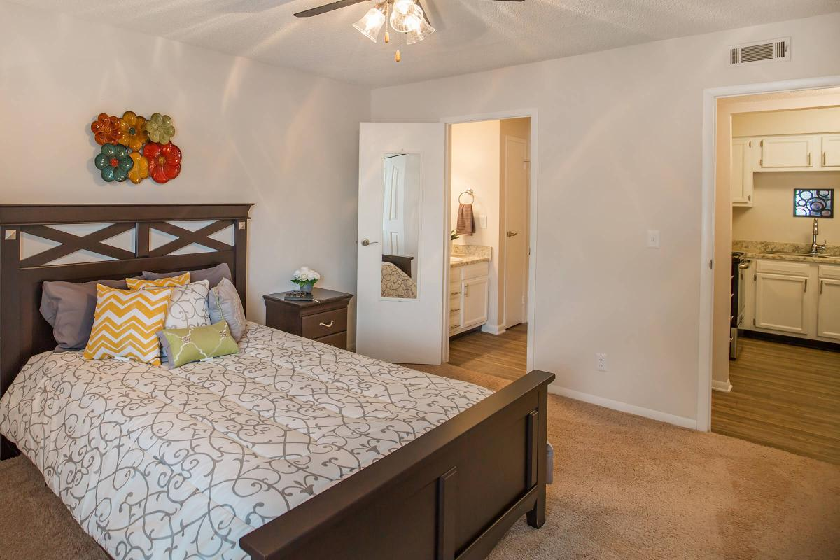 The bedroom in The Juniper at Ashwood Cove