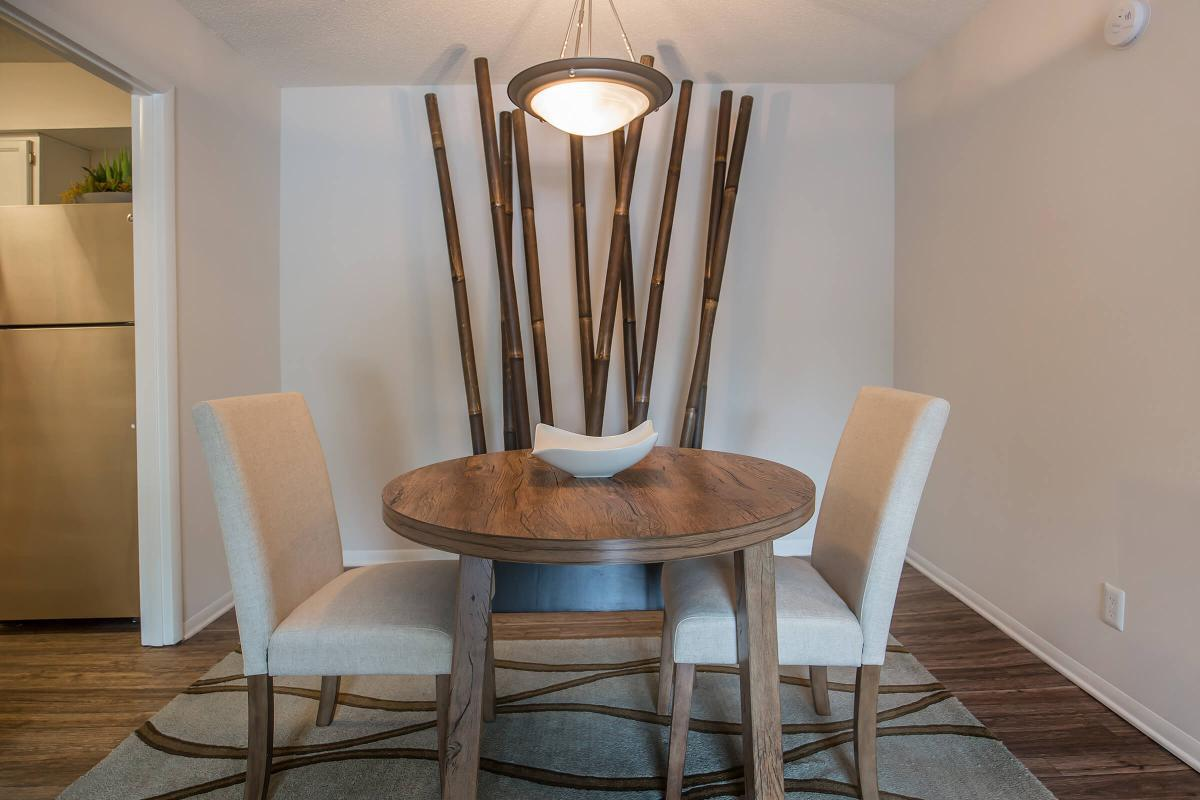 The dining area in The Juniper at Ashwood Cove
