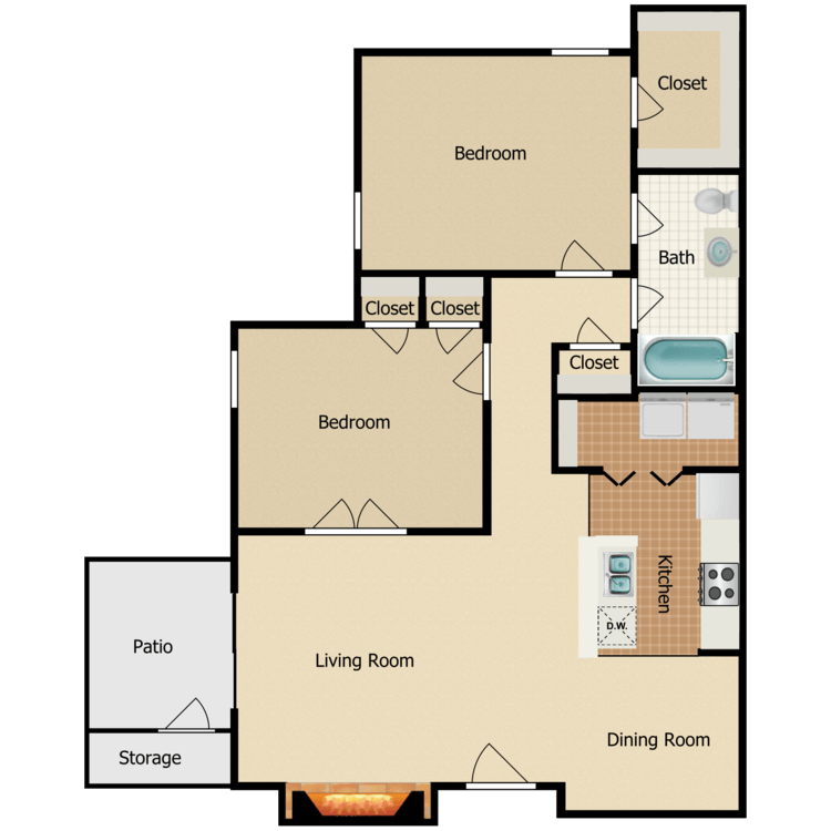 Floor plan image of Tuscany