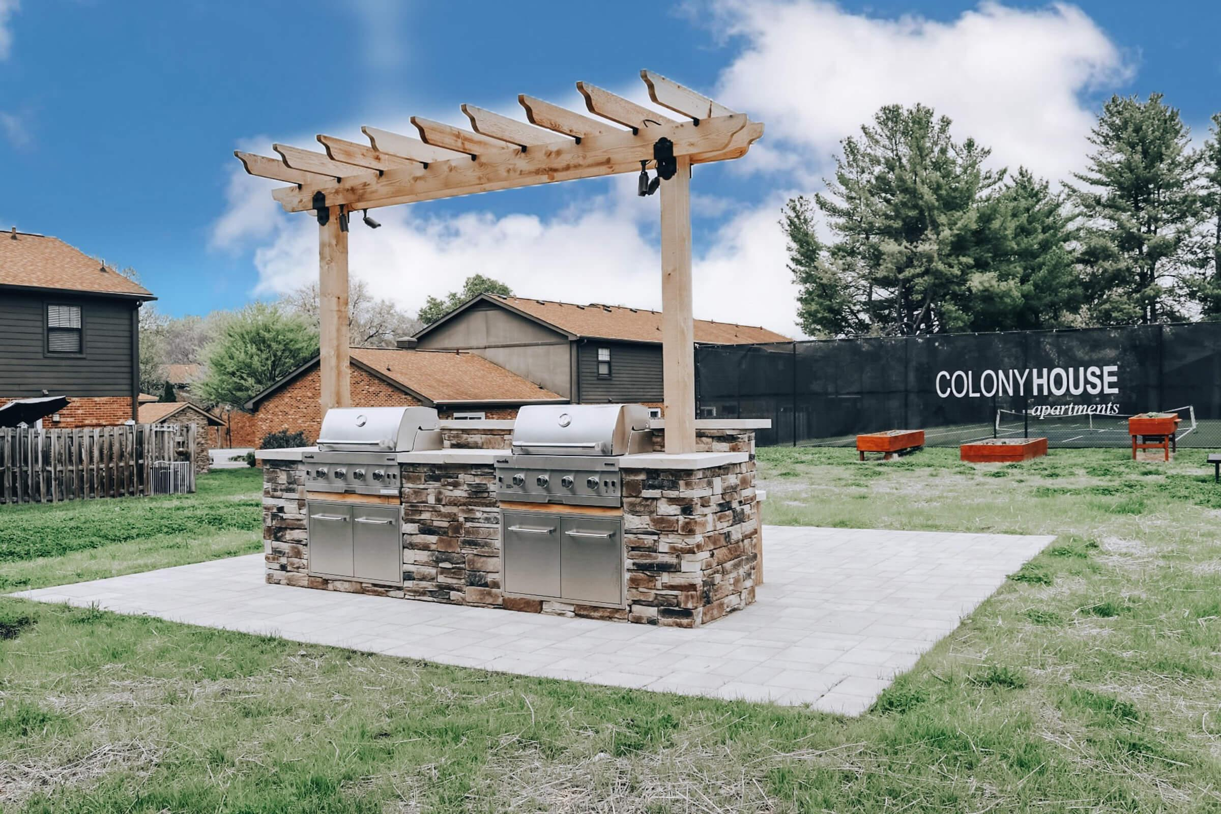 New Barbecue Picnic Area at Colony House