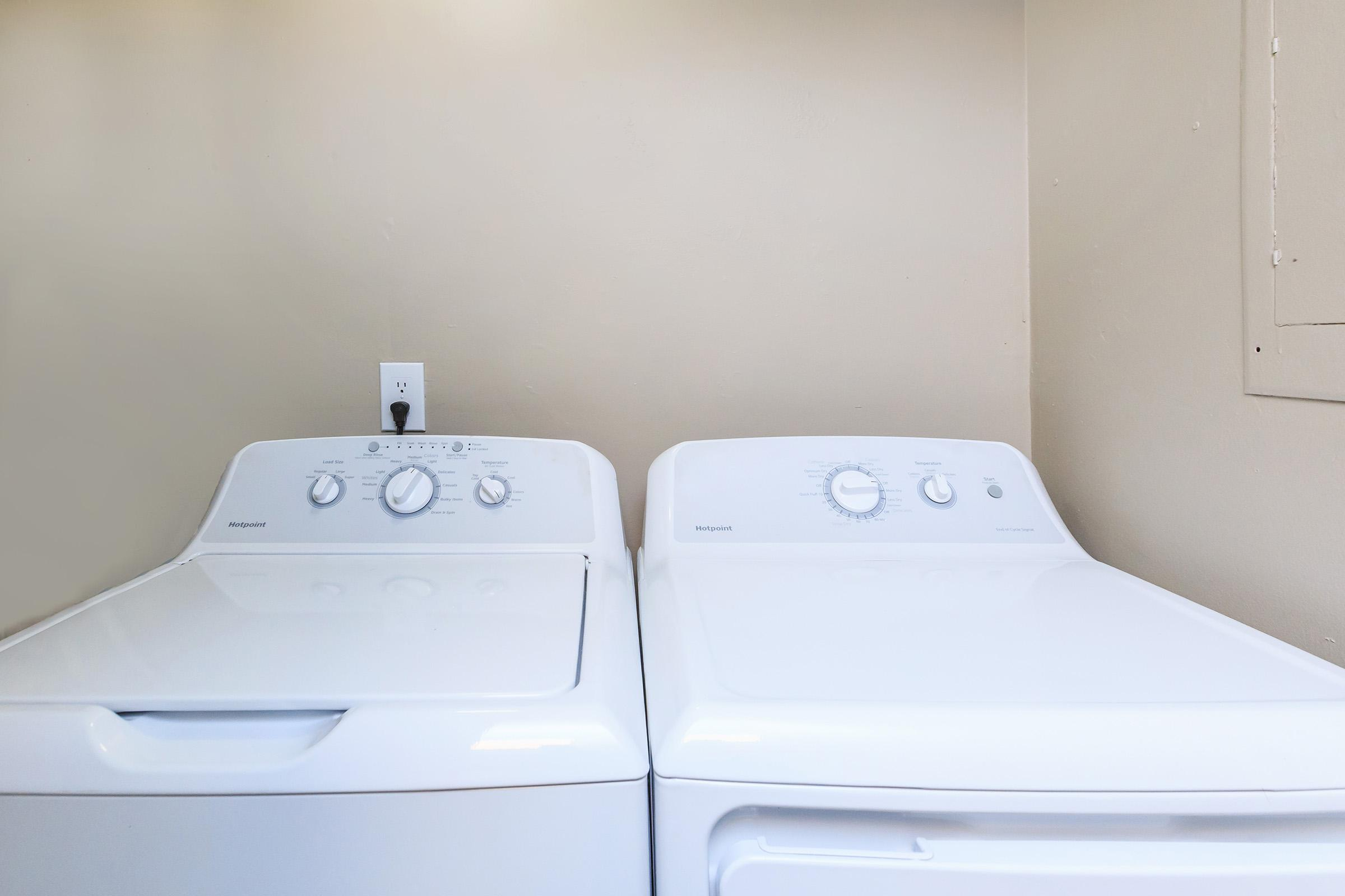 In-home washer and dryer at Colony House