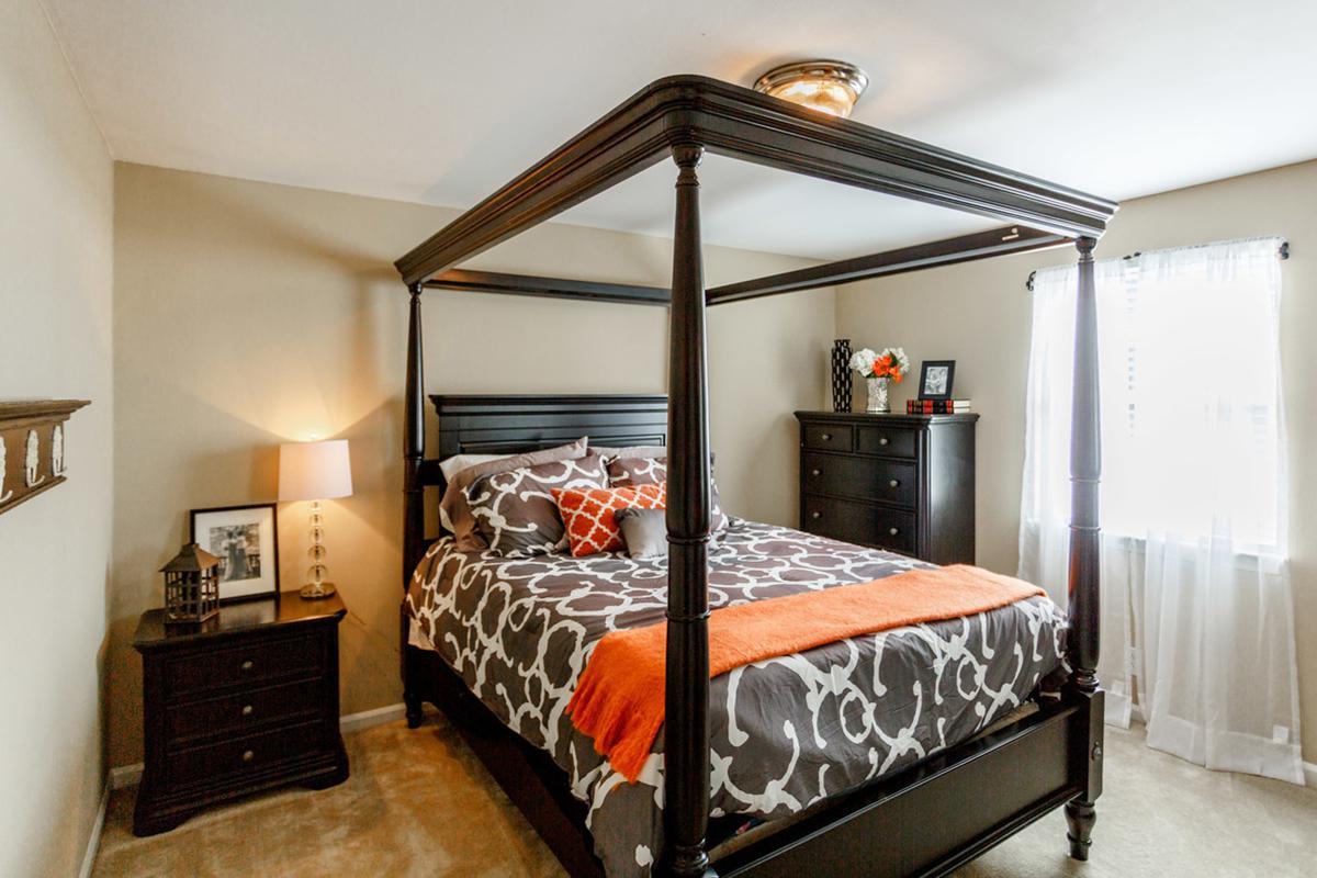 Elegant bedroom at the Colony House in Murfreesboro, TN