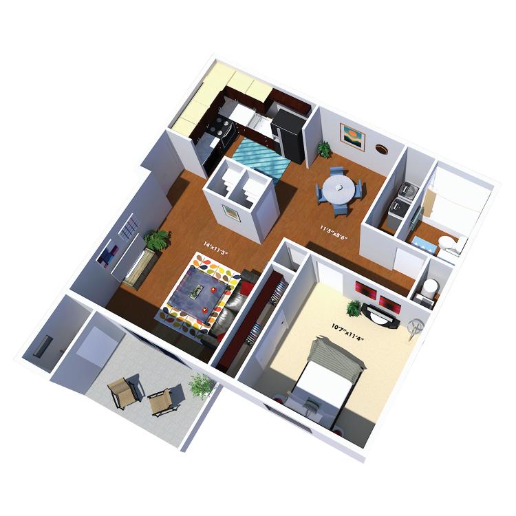 Floor plan image of The Thoreau