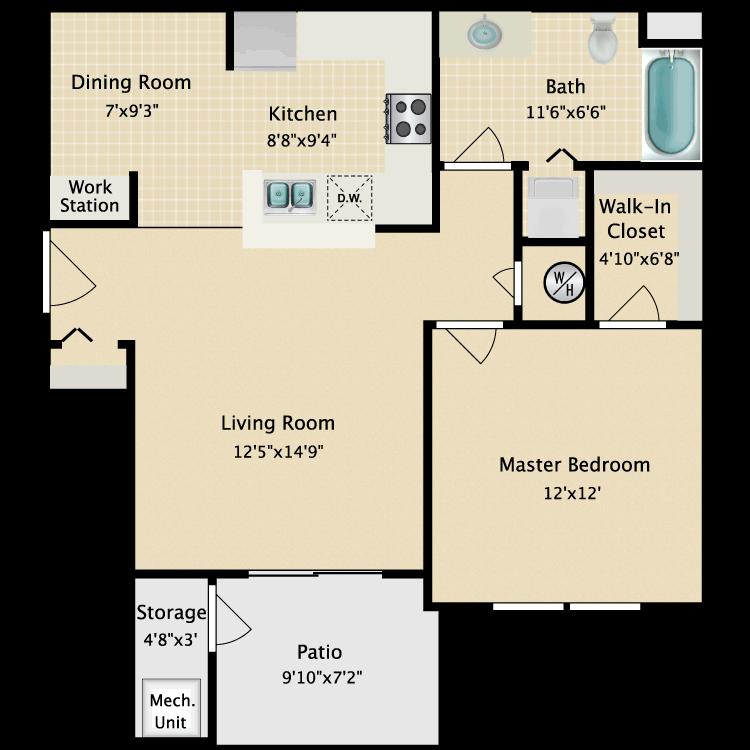 Floor plan image of Hawthorne