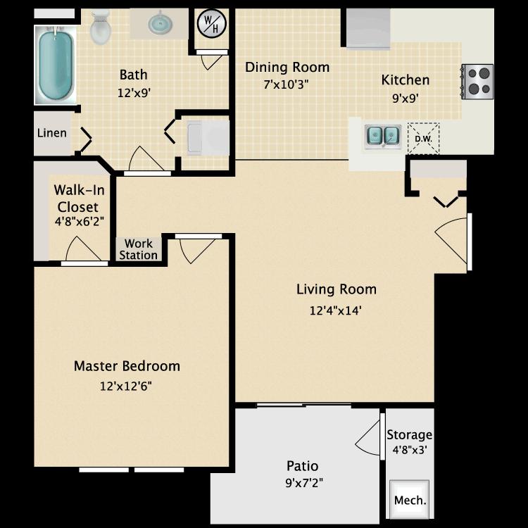 Floor plan image of Prairie