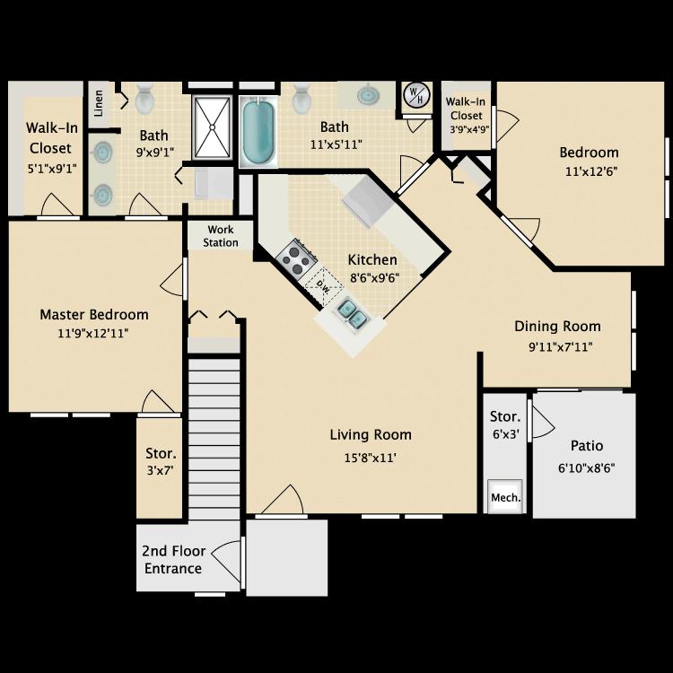 Floor plan image of Spruce