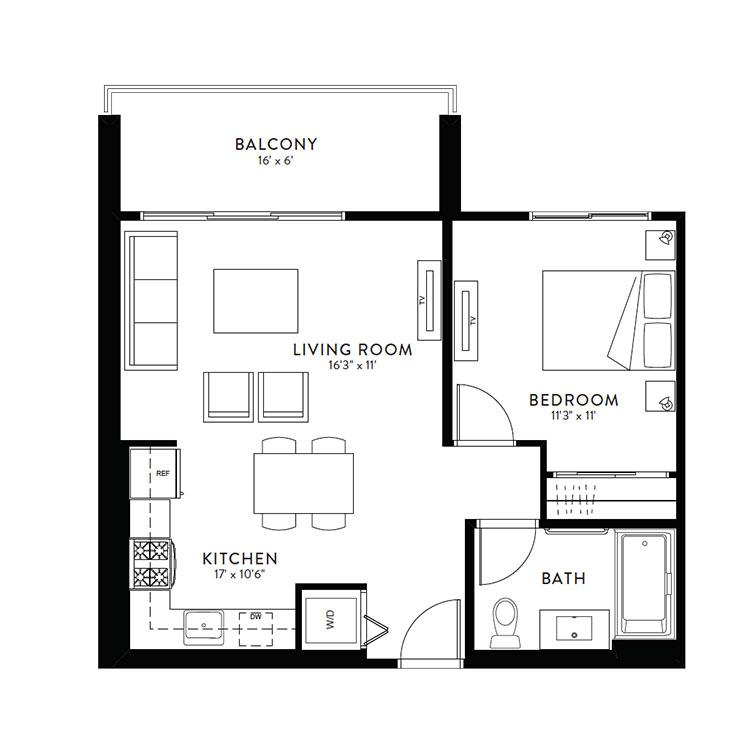 Plan 1A floor plan image