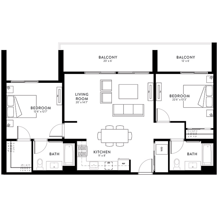 Plan 2C floor plan image