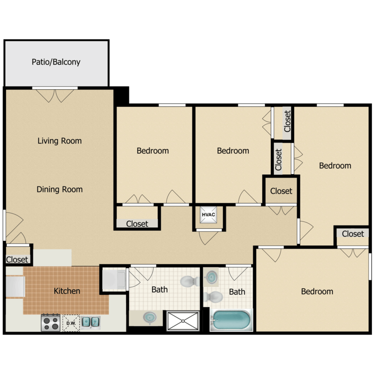 Floor plan image of Nye