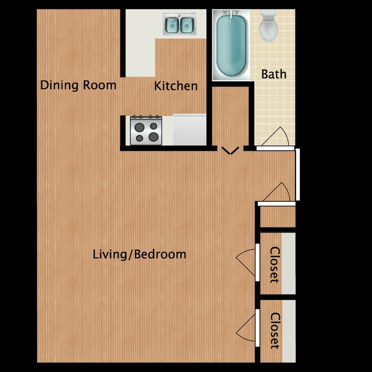 Floor plan image of Renovated Efficiency